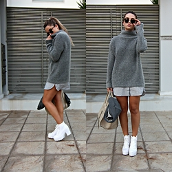 Fashionable J - H&M Sweater, Cèline Bag - It's a grey thing.