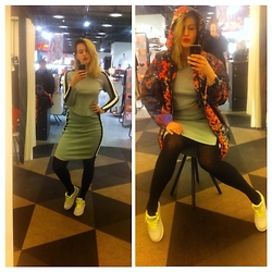Ena Hadziibrisevic - Lindex Jacket, H&M Snickers, H&M Top, H&M Skirt - Please like this pitcure on instagram profile beebaanoo