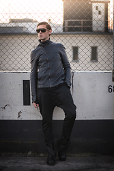 Alexander Borgetto - Julius 7 Leatherjacket, Dior Homme Sunglasses, Julius 7 Pants, Ma Julius Boots - Manifesto