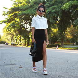 Alana Ruas - Yoins Shirt, Frontrowshop Necklace, Missguided Platafform Sandals - Jamie xx – Girl