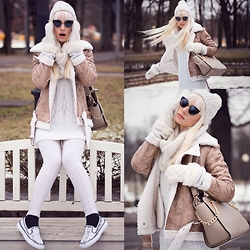 Oksana Orehhova - Zaful Jacket, Oasap Sunglasses, Zaful Shoes - SWEET AND SPICY CREAM