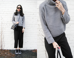 Visa Lom - Zaful Turtle Neck Solid Color Long Sleeve Sweater, Adidas Campus - Turtlenecks and Culottes