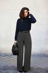 Blanca A.M. - Zara Palazzo Pants, Bimba&Lola Sweater - Walking Around