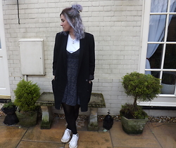 Charlotte Smith - Monki Blazer, Ebay Dress, Asos T Shirt, Converse - Lilac Locks