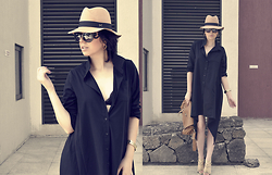 Ivana S - Style Moi Shirtdress, Oasap Hat - Shirtdress