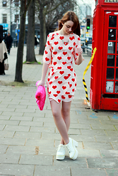 Chelsea Jade - Asos Two Piece, Asos Shoes - Heart Print