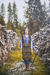 Ingrid Ispas - Traditional Romanian Shirt, Traditional Skirt - Back to tradition