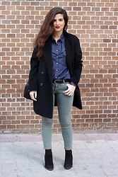 Blanca A.M. - Zara Denim Shirt - Walking Around