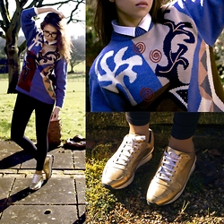 Yana M. - Opening Ceremony Sneakers, All Saints Leggins, Vintage Jumper - Picasso
