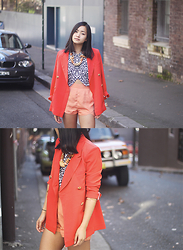 Jessica Tran - Blazer, Glue Shorts, Cameo The Label Top - Sydney brights