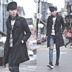IVAN Chang - Vintage Trench Coat, Tastemaker 達新美 Sweater, Nike Rosherun - 200215 TODAY STYLE