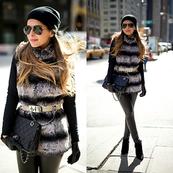 Pam Hetlinger - Topshop Faux Leather Leggings - NYFW Look 3