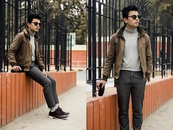 Goku Shrestha - Ray Ban Clubmaster, Topman Shoe, John Players Highneck, Self Tailored Pants, Liufan Jacket - Mute it Down