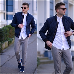 Stilysto By Andrzej S. - H&M Steppjacket, Zara Pants, Adidas Sneakers - The First Spring Look