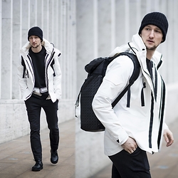 Marcel Floruss - Lacoste Jacket, Issey Miyake Backpack - 27