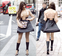 Reneta Kanevska - Liz Black Dress, River Island Bag, Steve Madden Shoes - London Fashion Week Day 3