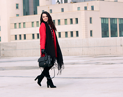 ANETTE ...ideaforfashion - Sheinside Coat - ONE SET | DIFFERENT ACCESSORIES | BLACK