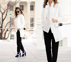 Queen Horsfall - Forever 21 Classic Woven, Sheinside White Long Dress/Blazer, Tobi Maggie Heels - LFW: Outfit Inspiration