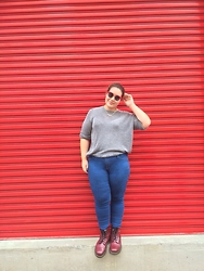 Melissa Karim - Dr. Martens Boots, River Island Jeans, Miss Selfridge Necklace, Asos Sunglasses - Taking over