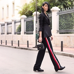 Konstantina Tzagaraki - Blazer, Pants, Chanel Bag - A house doesn't become a home until love moves in..