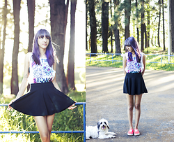 ☽ Lara Kneip ☾ - Vans Pink Shoes, Age Of Dreams All Time Low Shirt - Sakura and I