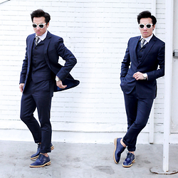 Dathias Hoang - Darkoh 3 Piece Suit, Klasse14 Watch, Kaibosh Sunglasses, Rainman Japan Shoes - Acuity @ www.modernmanjournal.com