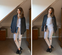 Helen Hird - Bdg Denim Jacket, Asos Jeans, Truffle Cleated Sole Shoes - HIDDEN FASHION