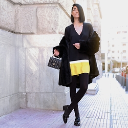 Konstantina Tzagaraki - Dress, Flats, Chanel Bag, Faux Fur - You don't have to be a poet to express your feelings..