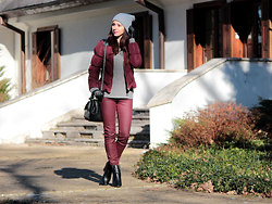 ANETTE ...ideaforfashion - Zara Bag - BURGUNDY & GREY