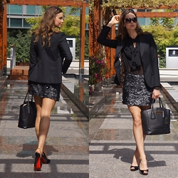 Egith Van Dinther - Dolce & Gabbana Jacket, Zara Skirt, Michael Kors Bag, Christian Louboutin Shoes - EEC -Elegant, Effortless & Comfortable in your own skin