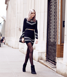 Jana Wind - Asos Pullover, Asos Skirt, Kg By Kurt Geiger Shoes - Financial district