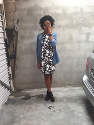 Abongwe Qokela - Cotton On Dress, Mr Price Denim Shirt - Tropical Me