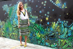 Eef Vicca - Anthropologie Striped Jade Skirt - COLOURFUL BRASIL