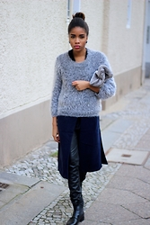 Nelly Negret - Pants, Sweater, Clutch, Shoes - Layering look