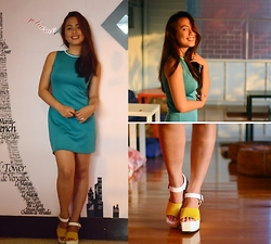 Daphne Verzosa - Sm Gtw Sporty Dress, Zapatto Korean Wedges - Emerald