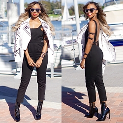 Storm D - Bcbg Jacket, Asos Jumpsuit, Storm On Jupiter Arm Harmess, Wrist Harness - Rock The Boat