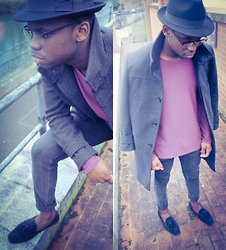 Telmo Van Dunem - H&M Hat, Topman Glasses, H&M Jacket, H&M Casual Shirt, H&M Jeans, Topman Loafers - Broken Heart