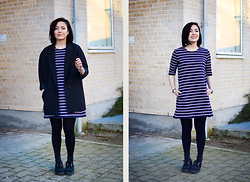 Yin Pang - H&M Dress, Underground Creepers, H&M Blazer - Simple human