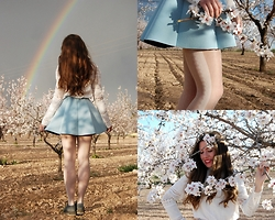 Mariana Moratalla - Oasap Tights, Aliexpress Lace Shirt, Pull & Bear Skirt, Tuk Creepers - Between Flowers