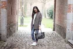 Linh Minouderie - Pimkie Jacket, Pimkie Bag, Abercrombie & Fitch Pants, Nike Shoes - My kind of boyfriend
