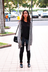 Maria Olaguivel - Mango Muscle Tee, H&M Sweater, River Island Two Toned Jeans, Parisian Shoes And Bags Brogues - CLASSY TWOSOME