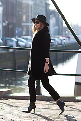 Christine R. - & Other Stories Hat, H&M Blazer, Jimmy Choo Ankle Boots - February freshness