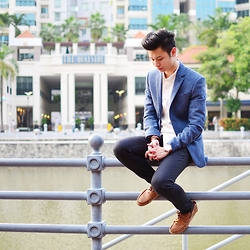 Jon Tan - H&M Wool Blazer, Topman Jeans - Perched