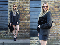 Laura Rogan - Giorgio Armani Jacket, Topshop Bag, H&M Sunnies, Nelly Shoes, Escada Skirt, Primark Sweater - Functionality in Fashion