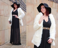 Milica Venoma - Oasap Hat, Amiclubwear Dress, Amiclubwear Leg Jewerly, Ahaishopping Coat, Prettyguide Clutch - It's not me, it's you