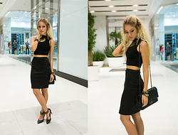 Manuela Gomes - Romwe Crop Top, Amelitá Pencil Skirt - He only say goodbye with words