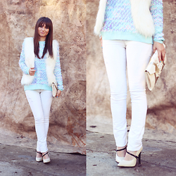Dosta Radnjanska - Oasap Sweater, Chic Wish Vest - How to wear pastels in winter