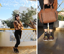 Rosana Vieira - Bershka Shirt, Bershka Pants, Primark Sun Glasses, Adidas Zx Flux Leopard, Paco Martinez Bag - Welcome to (sunny) March