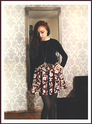 Marie M. - Pull & Bear Skirt - That Black Bat Licorice