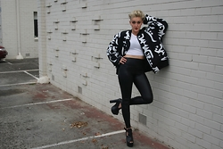 TOBY K - Damage Neoprene Jacket, Ebay Pleather Leggings - Hot Damnage